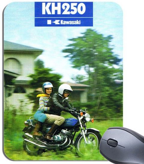 Vintage KH250 Motorbike Advert Mouse Mat. Motorcycle Bike High Quality Mouse Pad